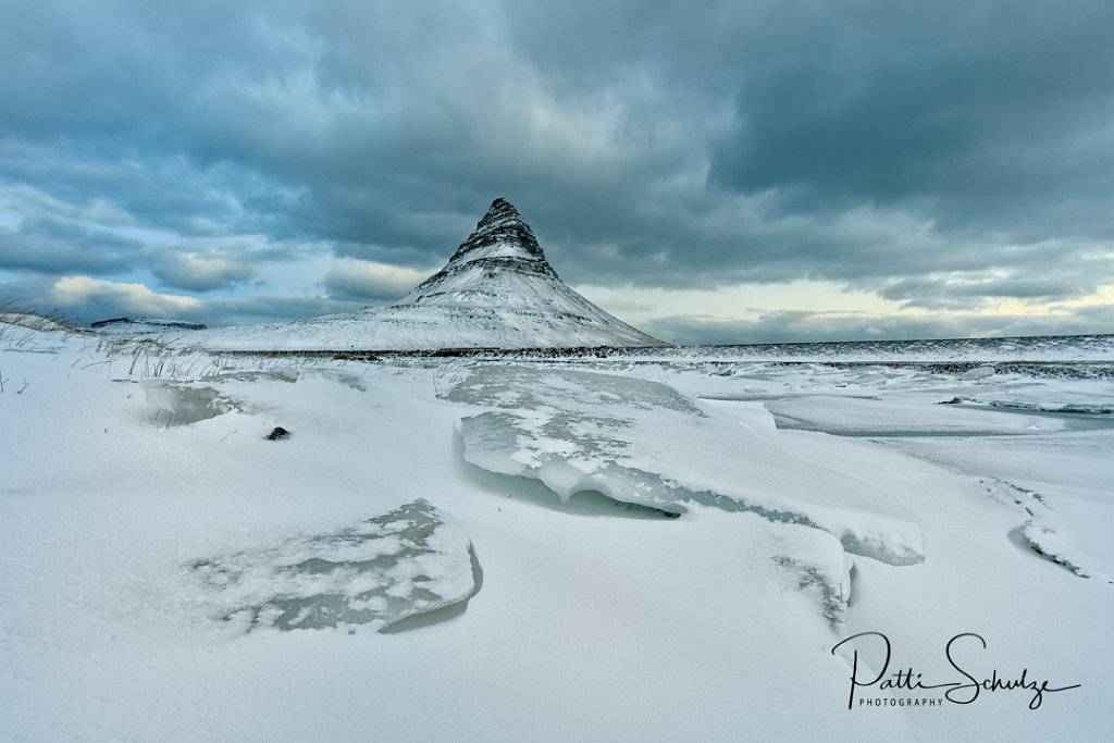 Kirkjufell and Ice