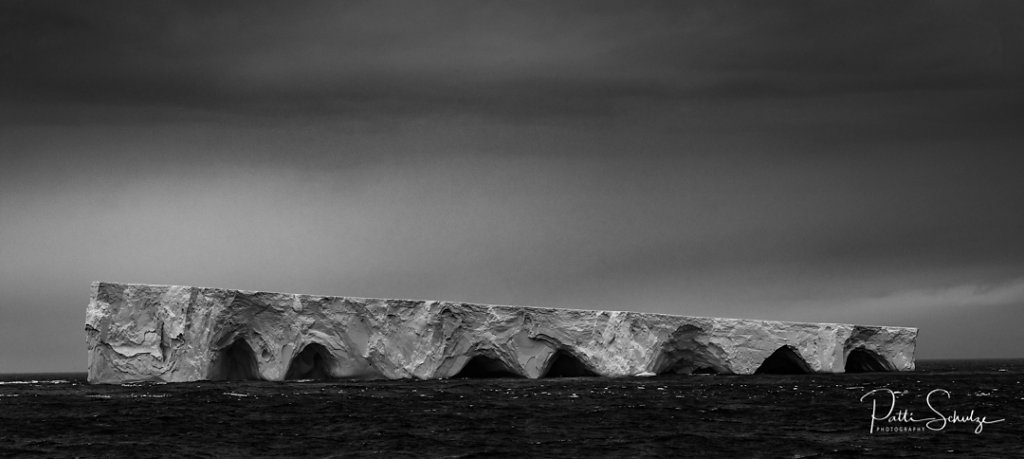 Iceberg in B&W